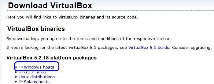 Сайт для загрузки установщика ВиртуалБокс