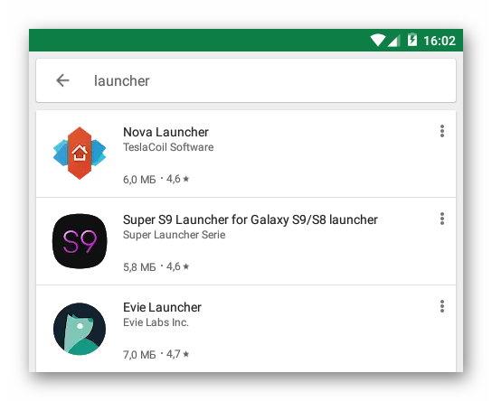 Лаунчеры Google Play