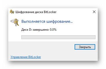 Процесс шифрования BitLocker