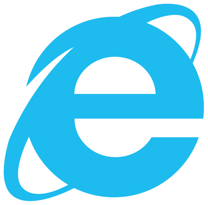 Логотип Internet Explorer Поиск IE 10 на Windows 10