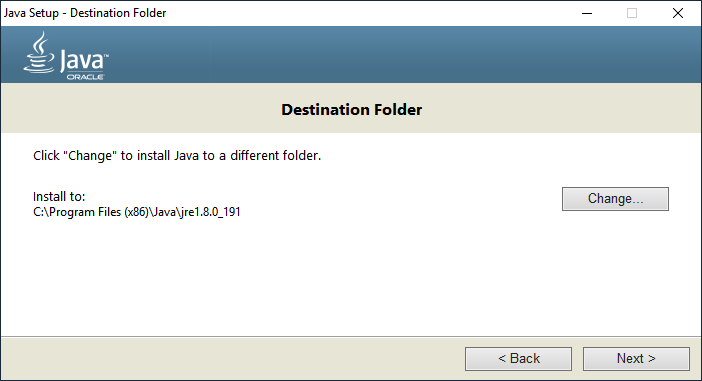 Установка Java для Windows