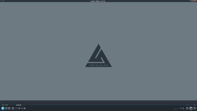 Интерфейс Light Alloy с логотипом