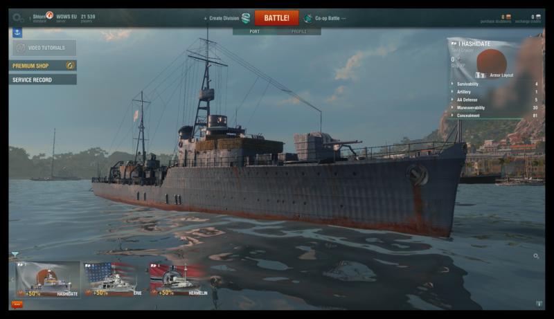 Причал с кораблями в игре