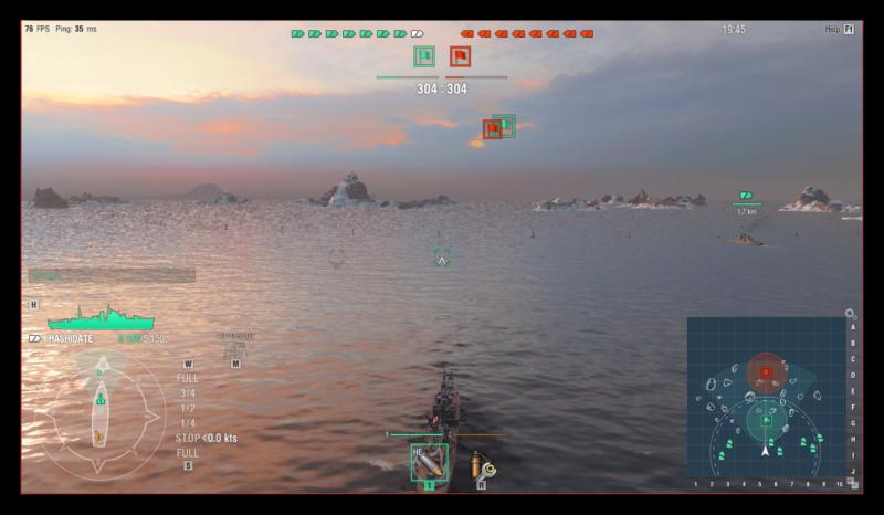Бой в World of Warships