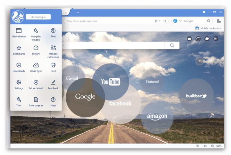 UC Browser интерфейс