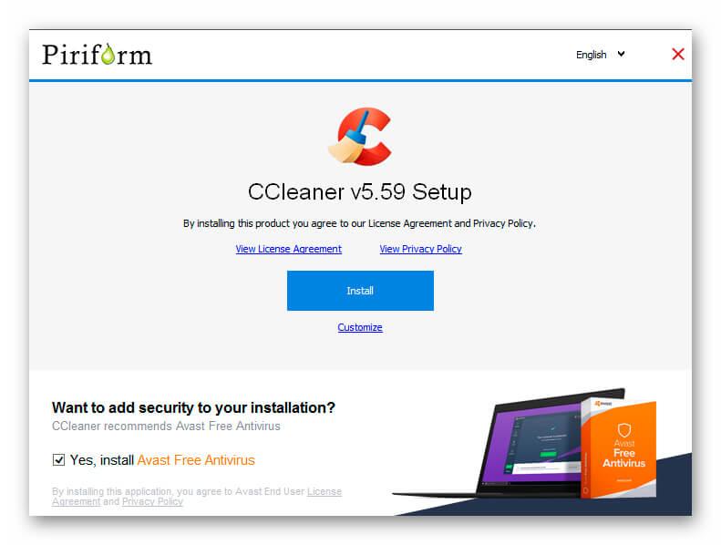 Установка CCleaner для Windows 7
