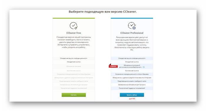 Отличия бесплатной и платной версии программы