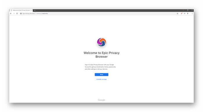 Epic Browser интерфейс программы